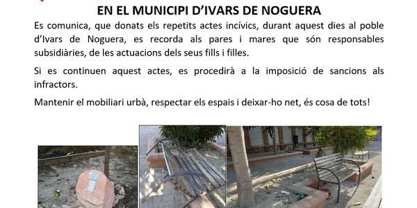 ACTES INCIVICS A IVARS DE NOGUERA