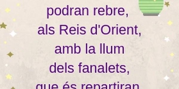 REBREM AL REIS, AMB LA LLUM DELS FANALETS