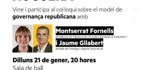 COL·LOQUI SOBRE EL MODEL DE GOVERNANÇA REPUBLICANA, IVARS DE NOGUERA21/01/2019