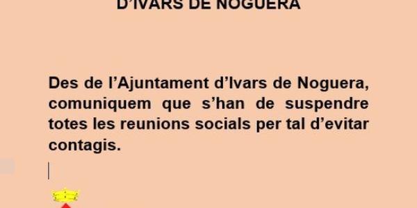 COMUNICAT DES DE L'AJUNTAMENT D'IVARS DE NOGUERA