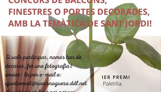 CONCURS DE BALCONS GUARNITS, PER SANT JORDI, A IVARS DE NOGUERA.