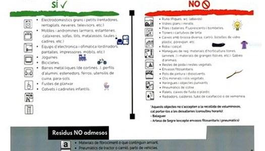 CONTENIDOR DE VOLUMINOS A IVARS DE NOGUERA, 9 I 10 DE JUNY.