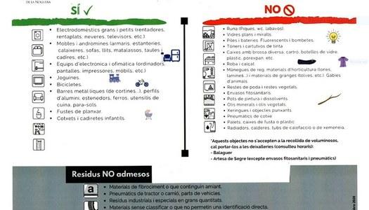 CONTENIDOR DE VOLUMINOSOS A IVARS DE NOGUERA, 7 I 8 D'ABRIL DE 2021
