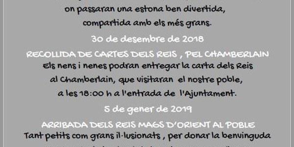 DATES ASSENYALADES, AQUEST NADAL A IVARS DE NOGUERA