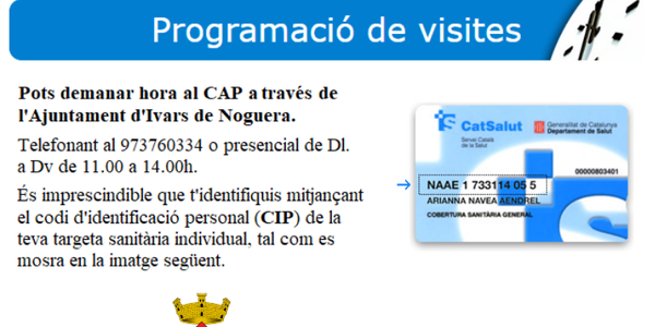DEMANAR VISITA AL CAP A TRAVÉS DE L'AJUNTAMENT