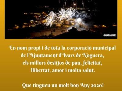 DES DE L'AJUNTAMENT D'IVARS DE NOGUERA, US DESITGEM BONES FESTES!
