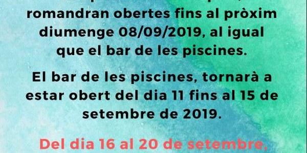 EL BAR D'IVARS DE NOGUERA, COMUNICA: