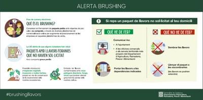 EL DEPARTAMENT D'AGRICULTURA, RAMADERIA, PESCA I ALIMENTACIÓ, INFORMEN: ALERTA BRUSHING