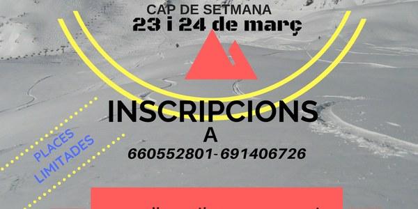 ESQUIADA CONSELL ESPORTIU 23 I 24 DE MARÇ