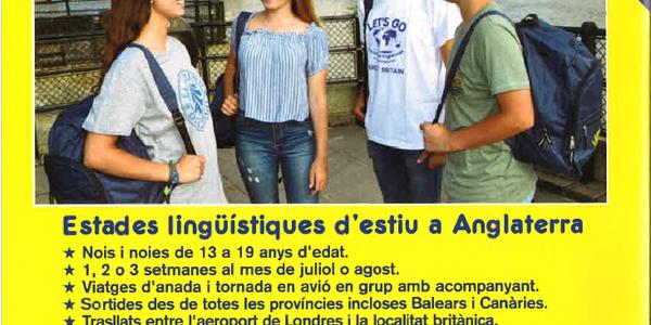 ESTADES LINGÜÍSTIQUES D'ESTIU A ANGLATERRA