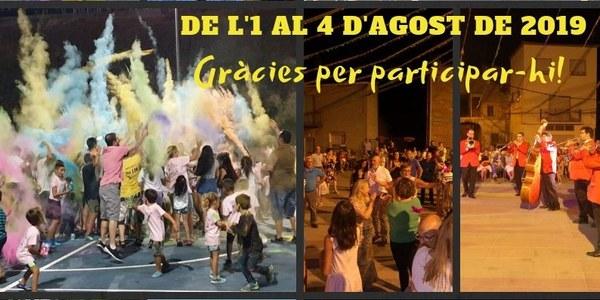 GRÀCIES PER PARTICIPAR EN LA FESTA MAJOR D'ESTIU 2019!
