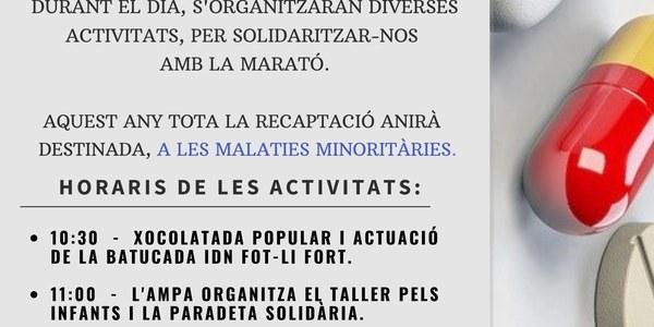 LA MARATÒ A IVARS DE NOGUERA 8 DE DESEMBRE DE 2019
