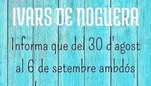 QUEVIURES MAGRI (CA LA JUDITH) A IVARS DE NOGUERA, INFORMA: