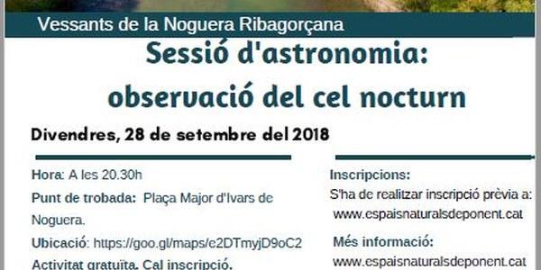 Sessió d'astronomia a Ivars de Noguera