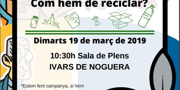 SESSIÓ INFORMATIVA REICLATGE 19/03/2019