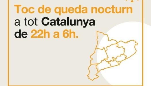 TOC DE QUEDA NOCTURN A TOTA CATALUNYA