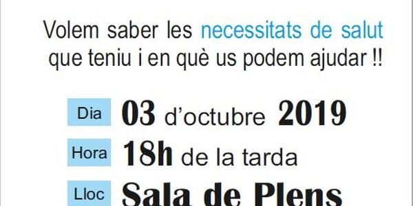 """XERRADA A IVARS DE NOGUERA """"SOM EL TEU EQUIP DE SALUT"""" 03.10.2019"""
